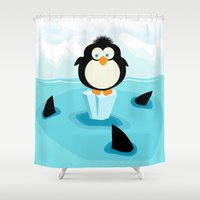 breakfast Shower Curtains featuring Breakfast by Rceeh