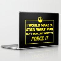 pun Laptop & iPad Skins featuring Intergalactic Pun by Ninja Klee