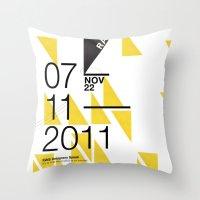 islam Throw Pillows featuring IGNS poster design by Matthew Billington