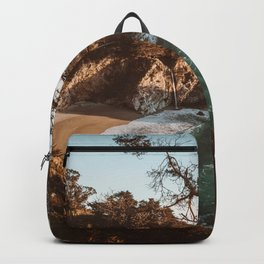 Big Sur Sunset at McWay Falls Backpack
