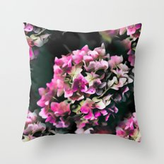 Hydrangea pattern Throw Pillow