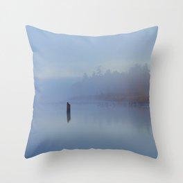 New York Blues Throw Pillow