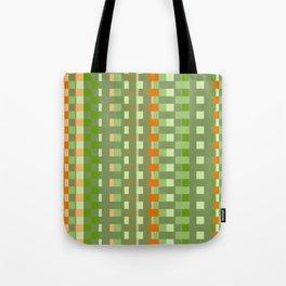 orange green checkered pattern Tote Bag