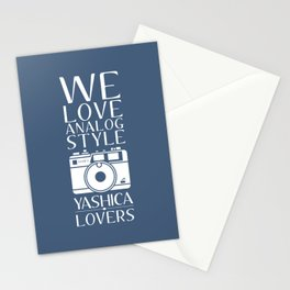 """We Love Analog"" Stationery Cards"