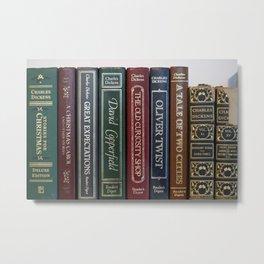 Dickens Books Metal Print