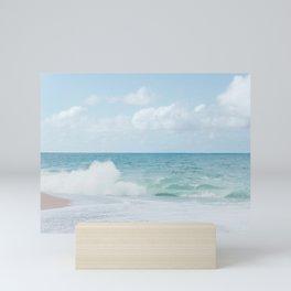 Blue Hawaii - Kauapea Beach, Ocean Photography Mini Art Print