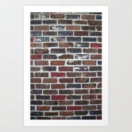 Brick Wall Vertical Art Print