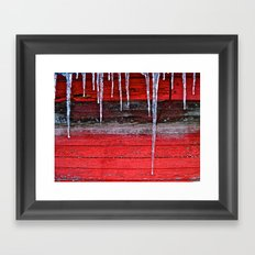 Chicken Coop Icicles Framed Art Print