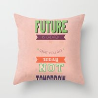 word Throw Pillows featuring WORD by Anthony Morell