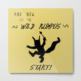 Wild Rumpus (Yellow) Metal Print