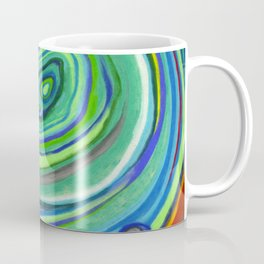 Vibrant Pastel on Suede Tree Ring Abstract by annmariescreations Coffee Mug