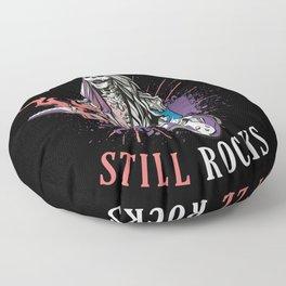 Old Ladies Still Rocks Electric Guitar Skeleton Floor Pillow