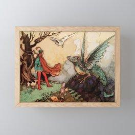 Flight of the Dragon Framed Mini Art Print