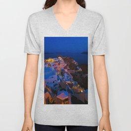 Santorini. Unisex V-Neck