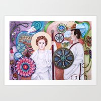 The Angel and the Centurian Art Print