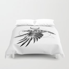 THE RAVEN AND THE MOON Duvet Cover