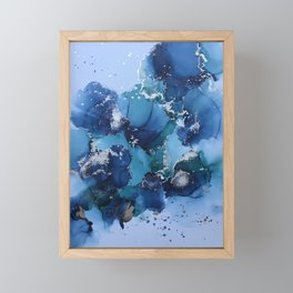 Alcohol Ink - Blue/Green Framed Mini Art Print