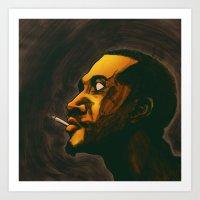 Ink Profile #1 Art Print