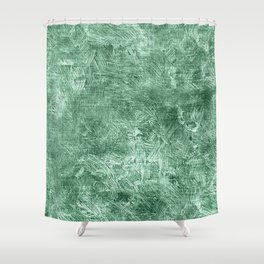 Grayed Jade Oil Painting Color Accent Shower Curtain