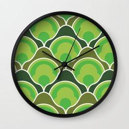 Rising Pumpkins in Green Wall Clock