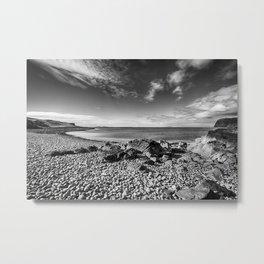 Rocky Beach Milovaig Isle of Skye Metal Print