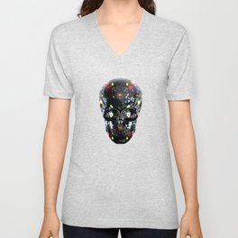 Super Cool Artsy Skull Unisex V-Neck