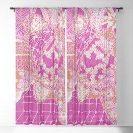 Pink Gypsy Sheer Curtain