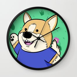 Corg Pal Wall Clock
