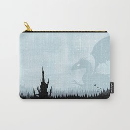 Dragon in Snowy Forest Carry-All Pouch