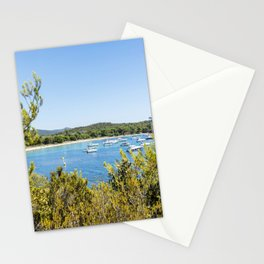 Seacoast of Cap Benat near Le Lavandou and Bormes-les-Mimosas in French Riviera Stationery Cards