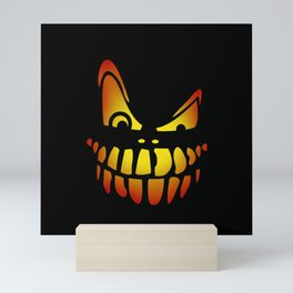 Pumpkin Face - Dark Mini Art Print