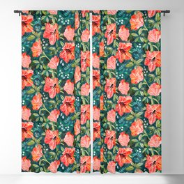 Vibrant Rhododendrons Blackout Curtain