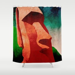 Mid-Century Modern Pacific Vacay Shower Curtain