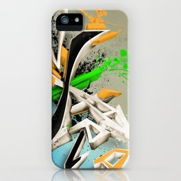 Extra grafitti 3d abstract design iPhone Case