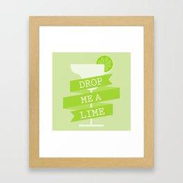Drop Me A Lime Framed Art Print