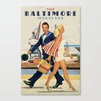 baltimore Canvas Prints featuring BALTIMORE by Ads Libitum