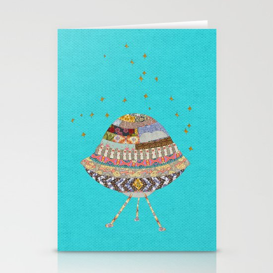 My Spaceship Will Come Stationery Cards