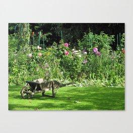 Wheelbarrow at Giverny Canvas Print