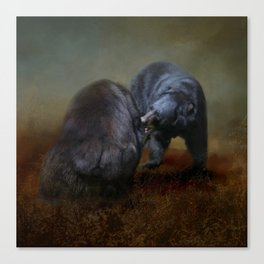 Bear Scrimmage Canvas Print