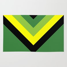 V-lines Green style Rug