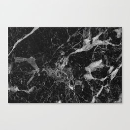 Black and Gray Marble Pattern Canvas Print