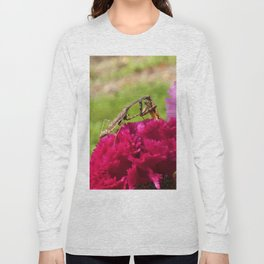 Praying Mantis Dining on a Moth Long Sleeve T-shirt