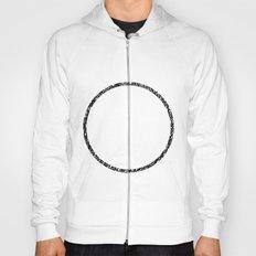Scribble Ring - Black ink, black and white, minimalistic, ring artwork Hoody