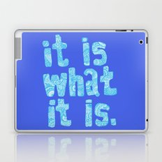 What it is Blue Laptop & iPad Skin