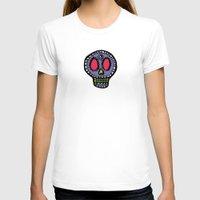 sugar skulls T-shirts featuring Sugar Skulls on Black by Kara Peters