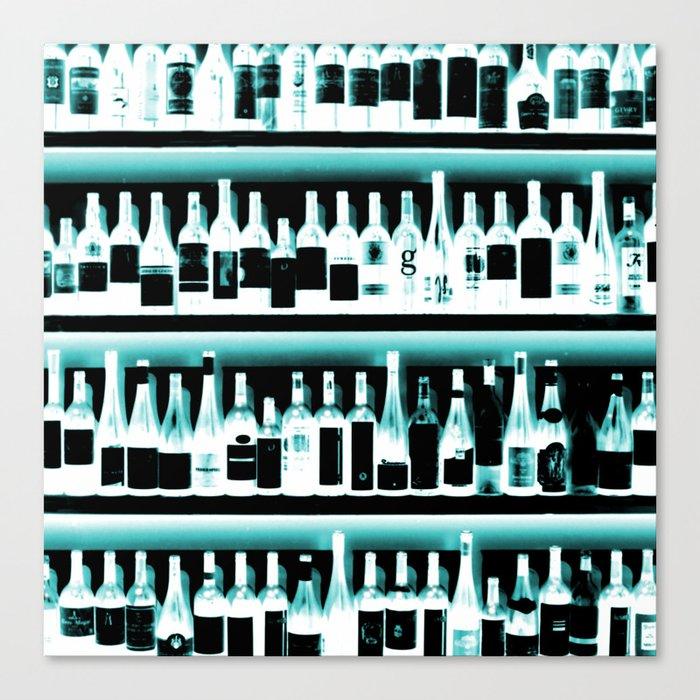 Wine Bottles - version 2 #decor #buyart #society6 Canvas Print