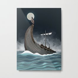 Viking Ship Metal Print