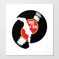 shaun of the dead Canvas Prints featuring Shaun of the dead by commonista