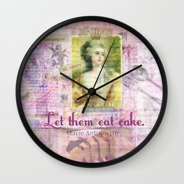 Marie Antoinette Let Them Eat Cake quote Wall Clock
