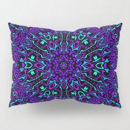 Cyan, Blue, and Purple Kaleidoscope 2 Pillow Sham